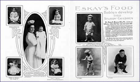 Pages from booklet advertising Eskay's albumenized food, undated