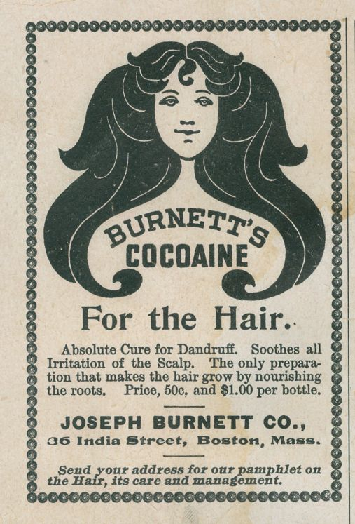 Burnett's Cocoaine For the Hair Advertisement, 1897