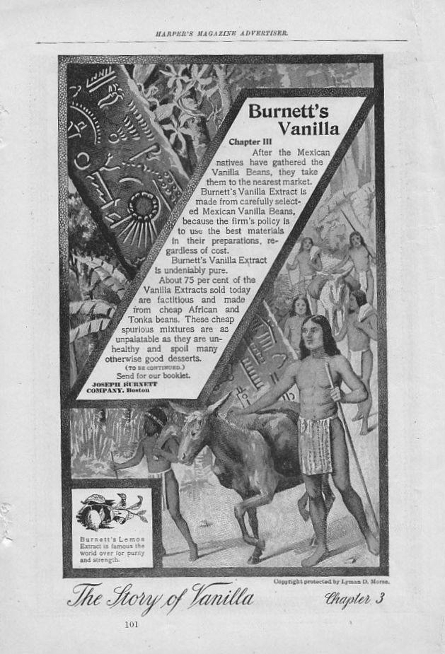 Burnett's Mexican Vanilla Extract Story, 1899