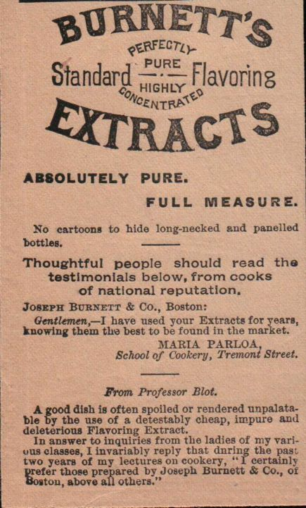 Burnett's Extracts Advertisement 1891