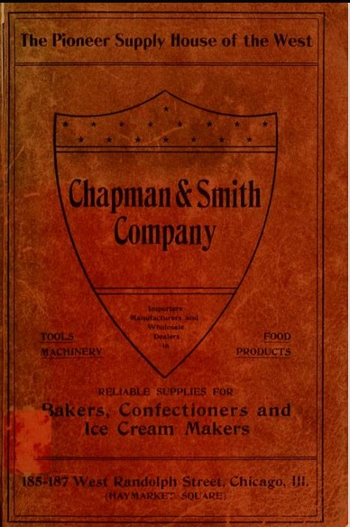 Cover, Catalogue of Chapman & Smith Company, 1899