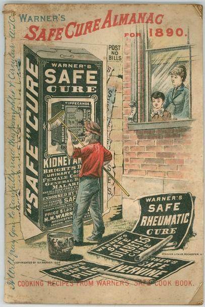 1890 Almanac for Warner's Safe Cure