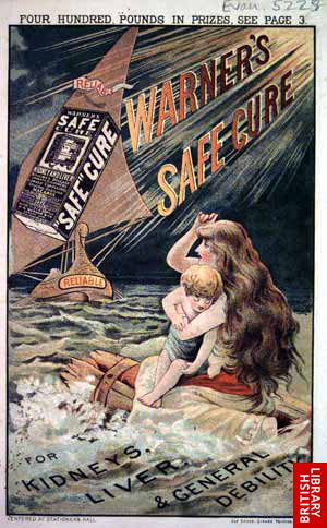 Warner's Safe Cure Ad, date unknown