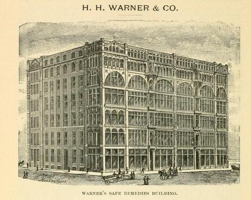 Warner's building in Rochester, New York.