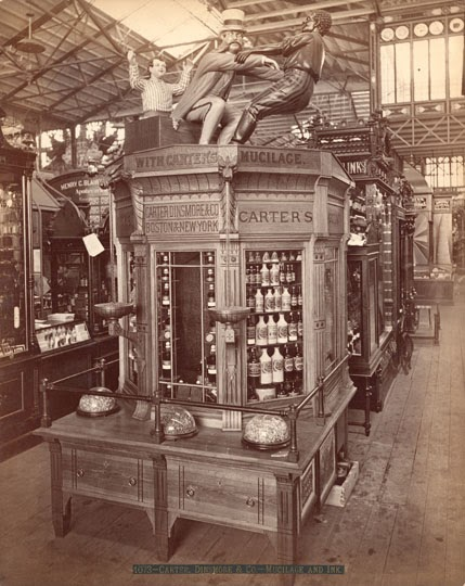 1873 Photograph of Carter's mucilage and ink display.