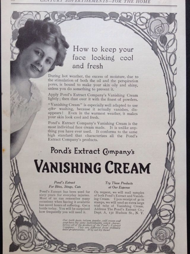 1912 Ad for Ponds Extract Co. Vanishing Cream