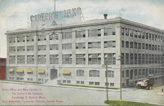 "Carter's Ink Co.'s main headquarters on 172 Columbus Ave., Cambridge ""C,"" Boston, Massachusetts, 1912."
