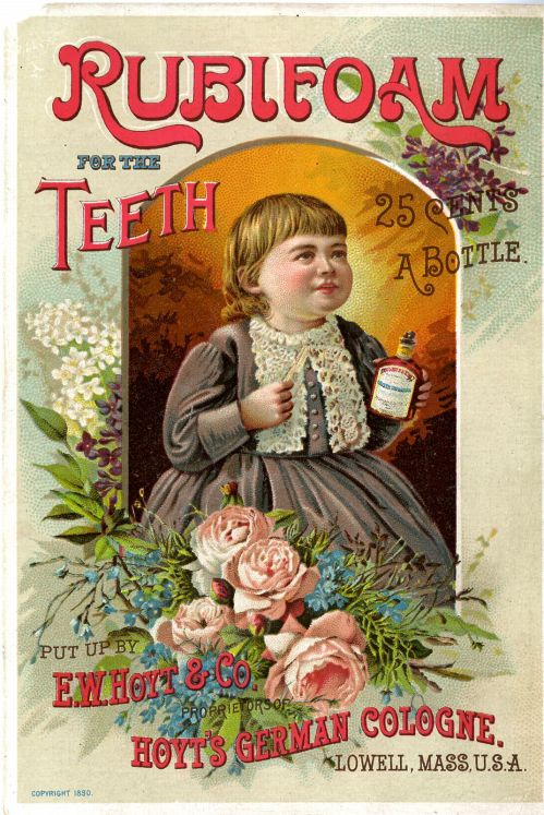 1890 advertising card for Rubifoam from E. W. Hoyt & Co.