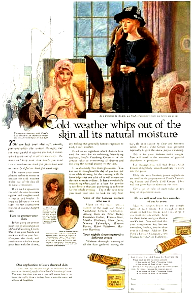 1919 Ad for Pond's Cold Cream and Pond's Vanishing Cream.
