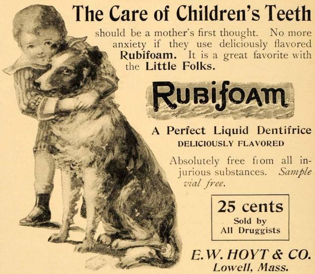 1895 Ad for Liquid Dentifrice Rubifoam