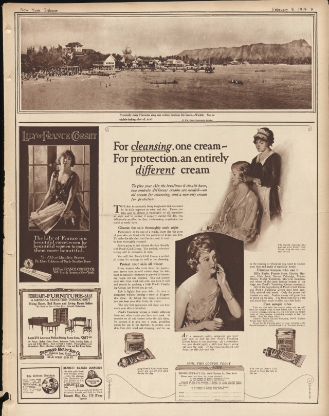 Ponds ad from The New York Times (New York), February 9, 1919