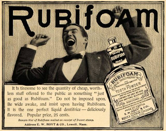 1898 Ad for Rubifoam Tooth Powder