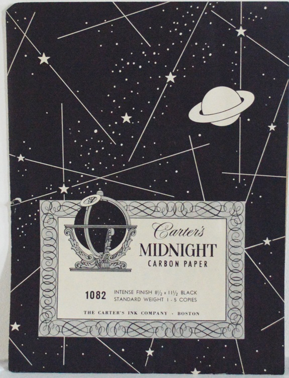 Carter's carbon paper with astronomical booklet, 1960s